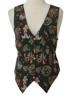 1980's Womens Ugly Christmas Vest to Wear Over Your Sweater