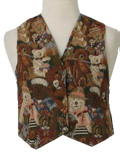 1980's Womens/Girls Ugly Christmas Vest to Wear Over Your Sweater
