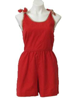 1980's Womens Romper Jumpsuit