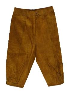 1980's Womens Totally 80s Leather Riding Capi Pants
