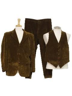 1960's Mens Mod Corduroy Suit