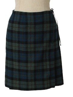 1980's Womens Wool Skirt