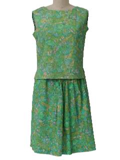 1960's Womens Mod Skirt Suit