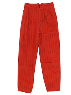 1980's Womens Christmas Red Totally 80s Pants