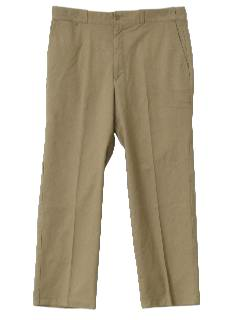 1980's Mens Khaki Work Pants