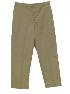 1990's Mens Flat Front Khaki Work Pants
