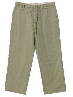 1990's Mens Khaki Work Pants