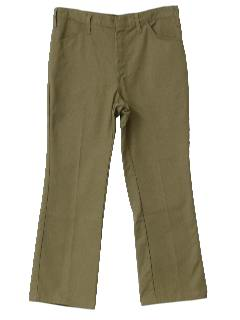 1990's Mens Jeans-Cut Khaki Work Pants