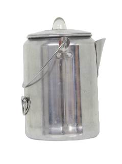 1950's Home Decor -Aluminum Campfire Coffee Pot