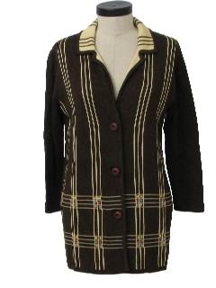 1970's Womens Mod Knit Coat Jacket