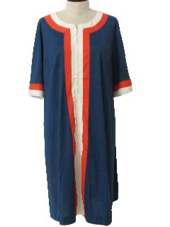 1960's Womens Plus Size Mod Lounge Dress