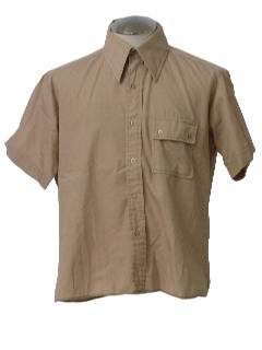1970's Mens Safari Style Sport Shirt