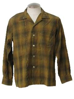 1960's Mens Mod Wool Shirt