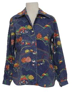 1960's Womens Mod Hippie Shirt