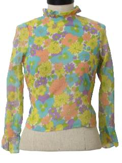 1960's Womens Pow-Flower Mod Shirt