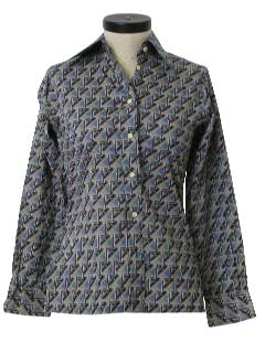 1970's Womens Print Shirt