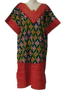 1970's Womens Ethnic Hippie Dress
