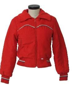 1980's Womens Corduroy Ski Style Jacket