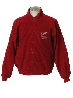 1990's Mens Wicked 90s Corduroy Baseball Style Jacket