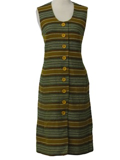1960's Womens Mod Wool Jumper Dress