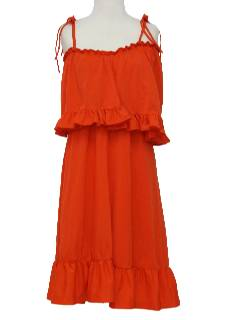 1970's Womens Knit Sun Dress