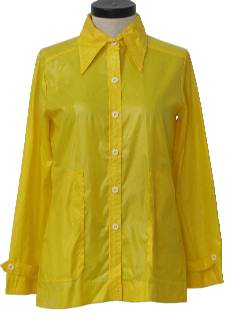 1970's Womens Mod Rain Shirt-Jacket