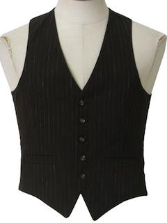 1960's Mens Mod Suit Vest