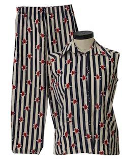 1960's Womens Mod Pant Suit