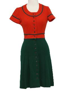 1960's Womens/Girls Mod Wool Twiggy Dress