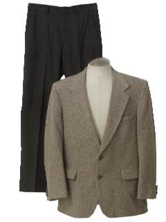 1990's Mens Mod Look Tweed Combo Suit