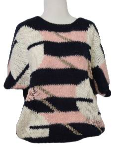 1980's Womens Totally 80s Knit Sweater Shirt