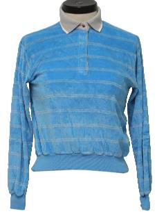 1980's Womens Totally 80s Velour Shirt