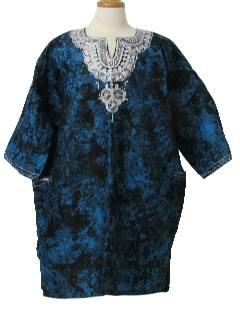 1970's Unisex Ethnic African Style Dashiki Shirt