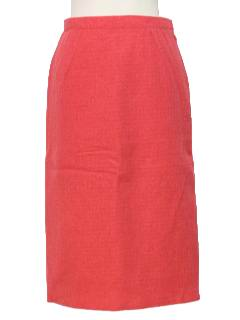 1950's Womens Wool Pencil Sheath Skirt