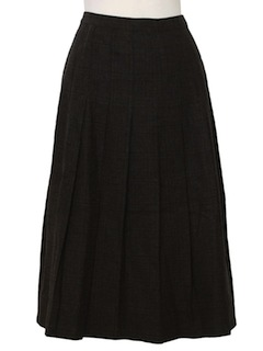 1940's Womens Wool Fixed Box Pleat Skirt