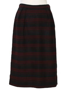 1940's Womens Wool Pencil Sheath Skirt