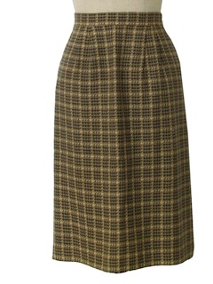 1980's Womens Wool Straight Skirt