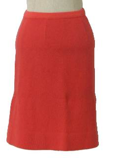 1960's Womens Wool A-line Skirt