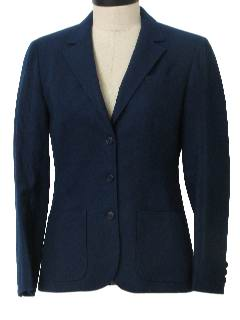 1980's Womens Wool Blazer Jacket