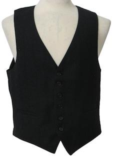 1980's Mens Mod Suit Vest