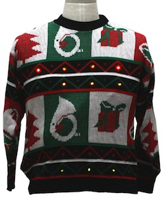 1980's Unisex Lightup Totally 80s Ugly Christmas Sweater