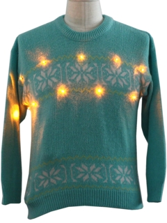 1980's Womens Lightup Ugly Christmas Ski Sweater