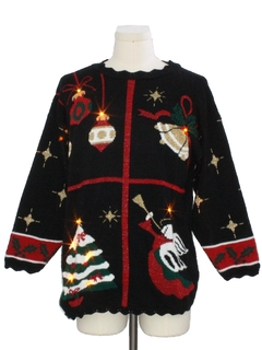 1980's Unisex Vintage Lightup Ugly Christmas Sweater