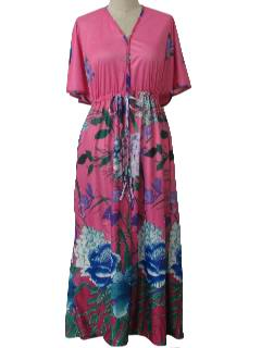 1970's Womens Hawaiian Lounge Dress