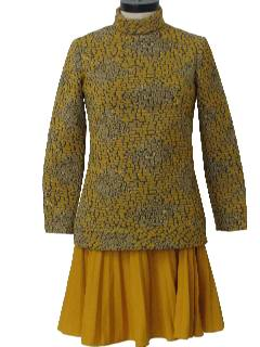 1960's Womens Mod Knit Twiggy Dress