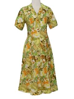 1970's Womens Photoprint Dress