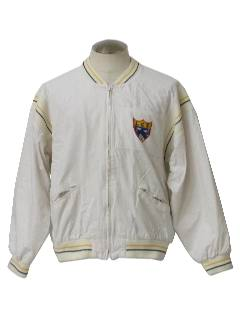1970's Mens Totally 80s Bomber Style Track Jacket