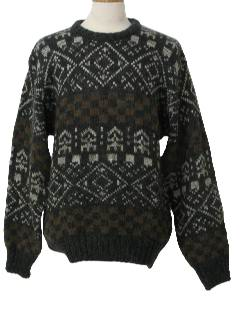 1980's Mens Totally 80s Cosby Style Ski Sweater
