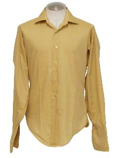1970's Mens Mod French Cuffed Shirt