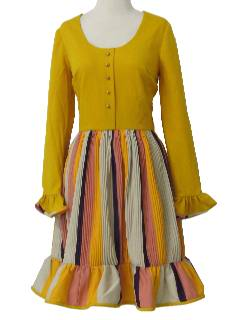 1970's Womens Desginer Knit Dress